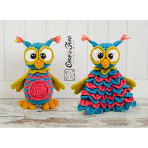 Quinn the Owl Lovey and Amigurumi Crochet Patterns by One and Two ...