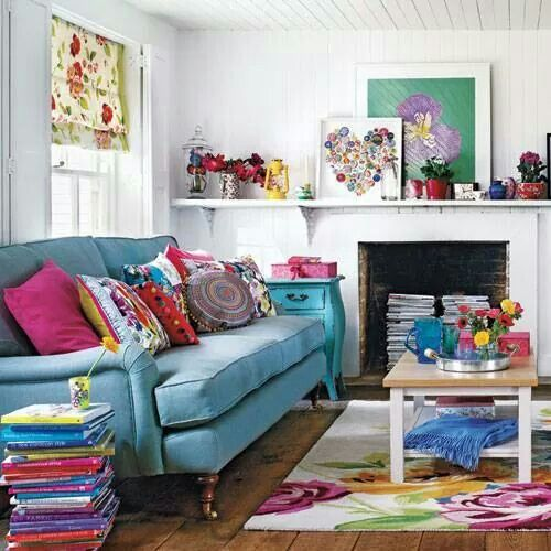Loving the colorful theme my dream decor home funky - Funky decorating ideas for living rooms ...