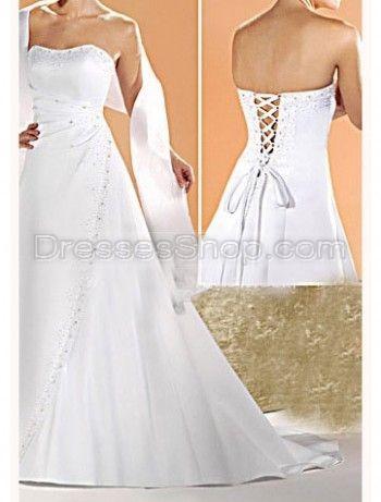 modern elegant affordable strapless bust corset white