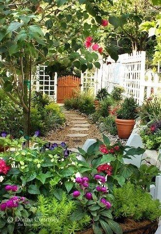 Pinterest Backyard Gardens | Backyard Gardening | FRENCH INSPIRED GARDEN IDEAS | Small Space Gardening, Beautiful Gardens, Garden Spaces