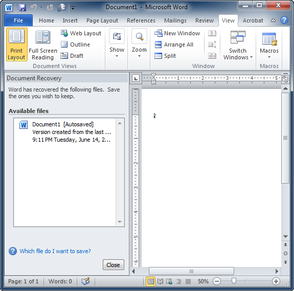 Find Lost Files When Autosave Fails In Microsoft Word  Hacking