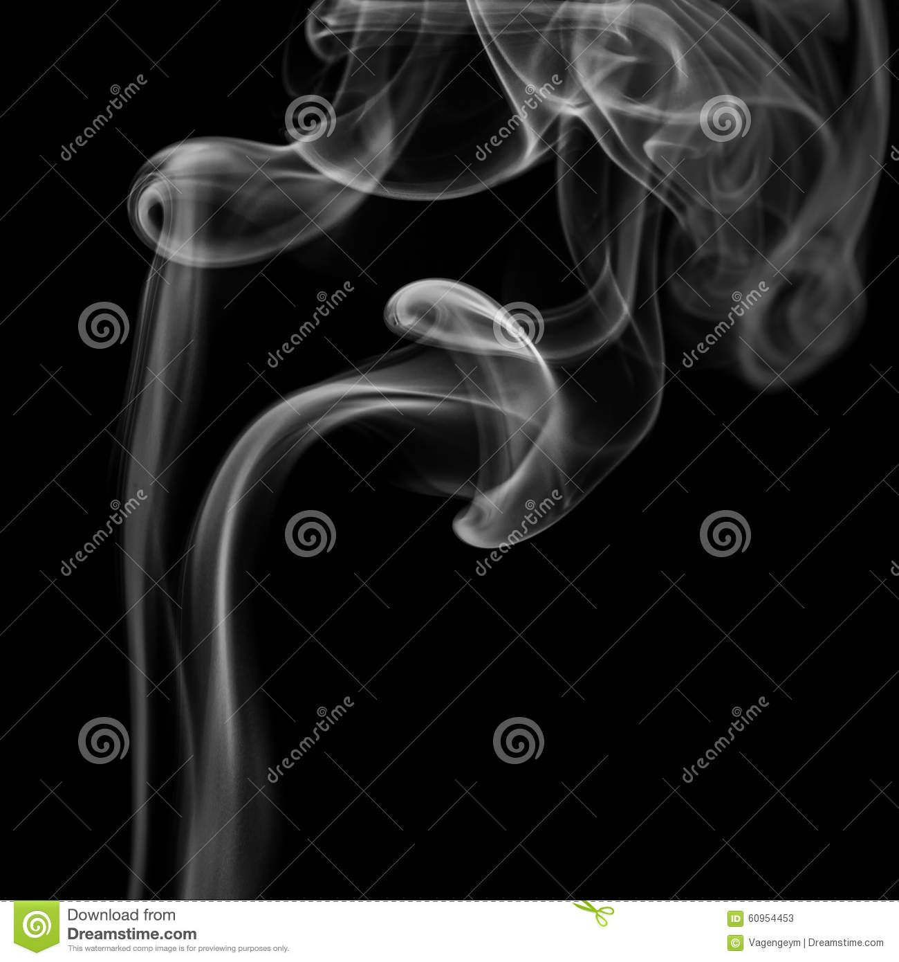 Abstract gray smoke from the incense sticks. Stock Photos
