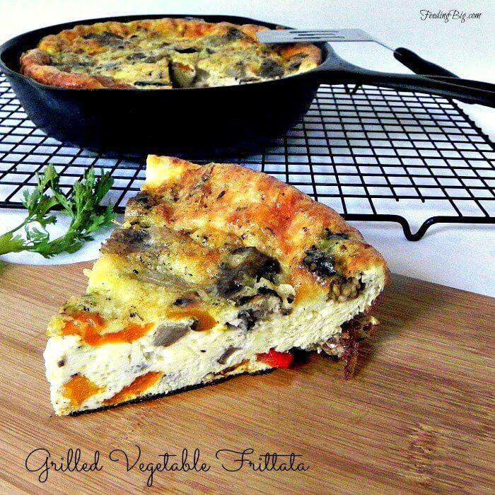 Grilled Vegetable Frittata - Easy, healthy meatless dinner