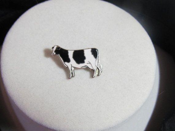 Holstein Cow pin, Leavens Attleboro MA