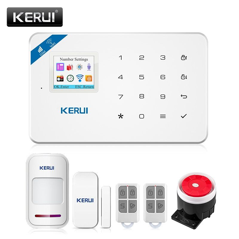 Home Security Wireless Alarm System with Motion Detector /& Smoke Detector
