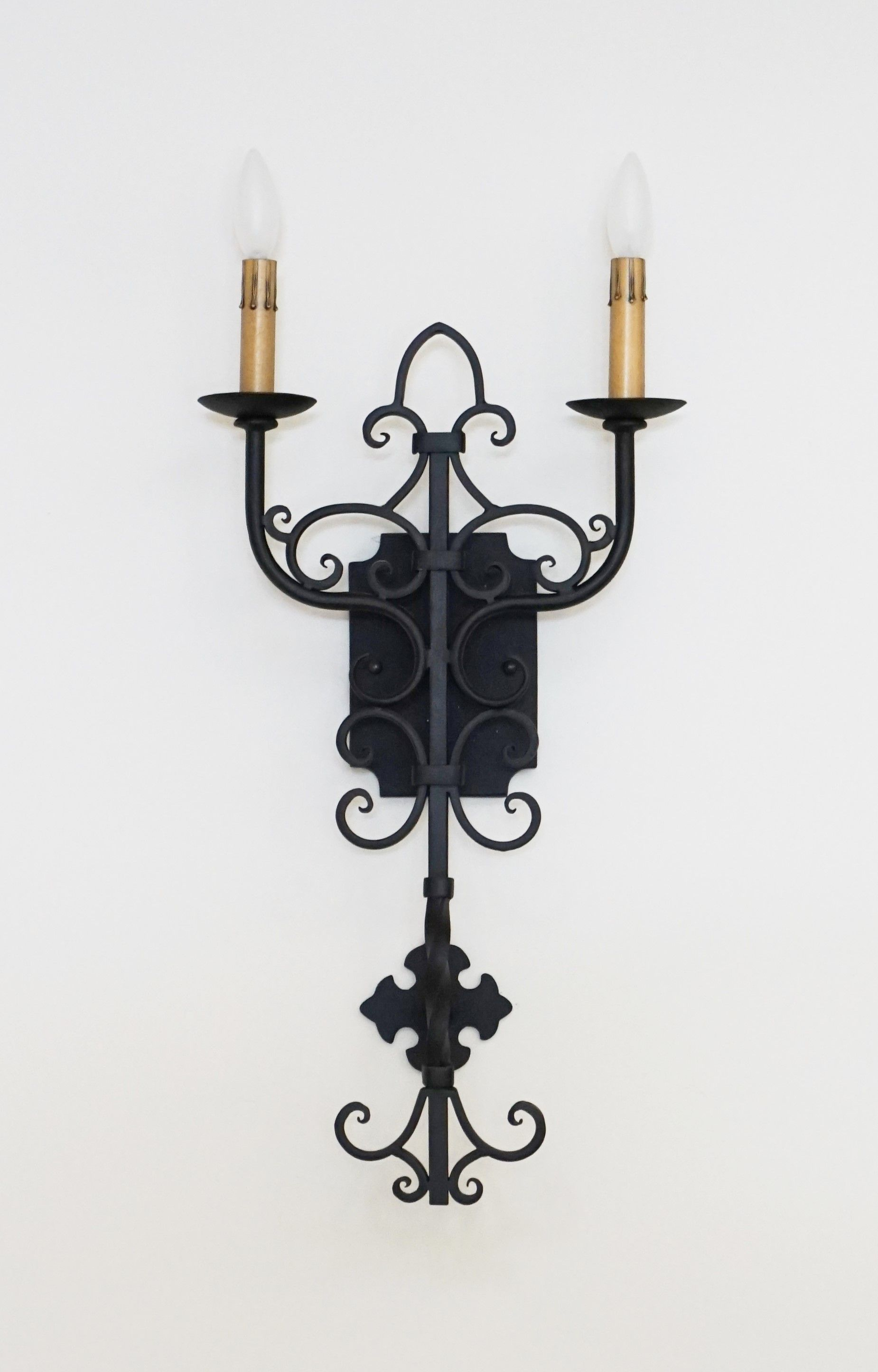 Custom Hand Forged Iron Wall Sconce By Www Haciendalights