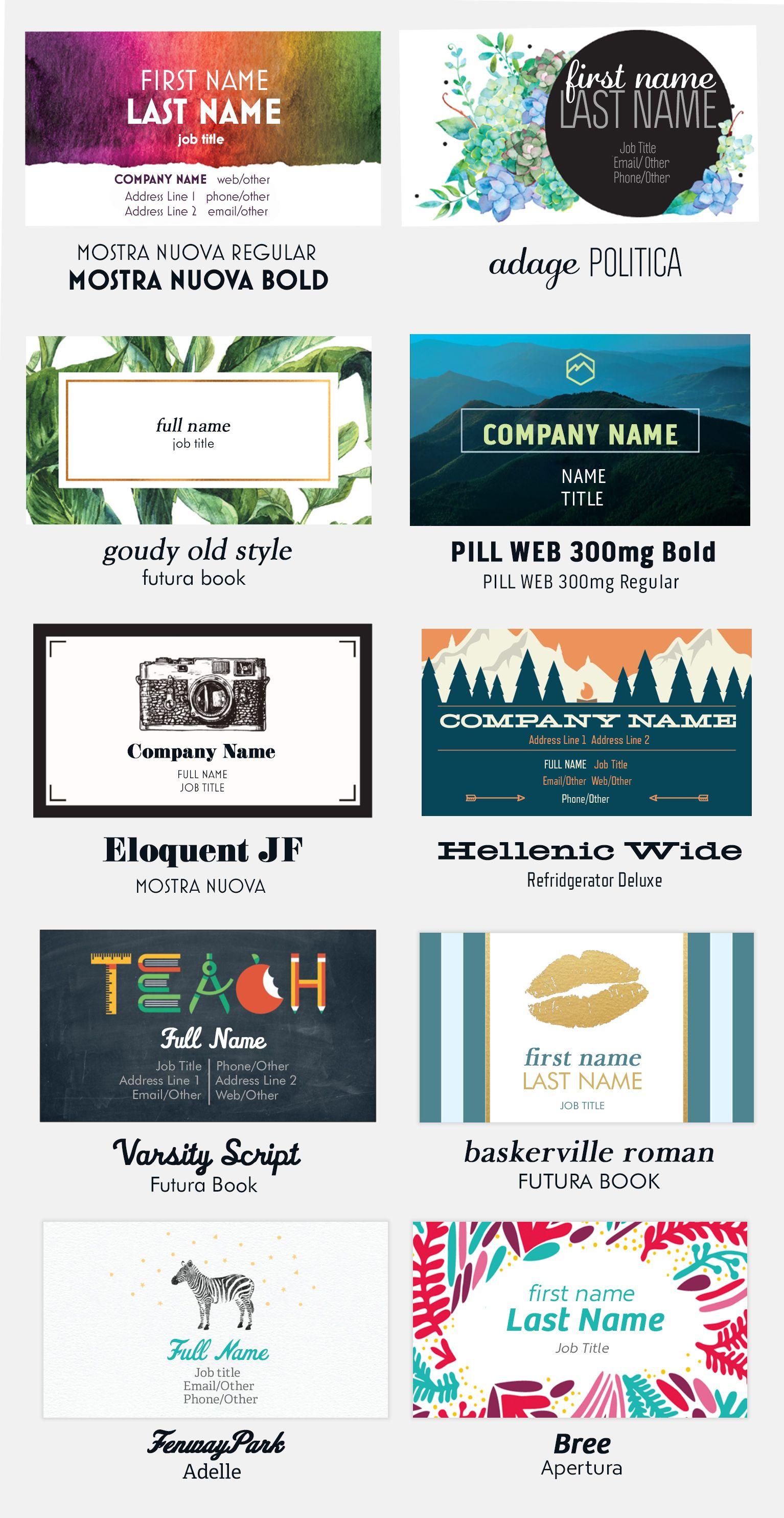 Vistaprint Vistaprint Business Cards Unique Business Cards Business Card Size