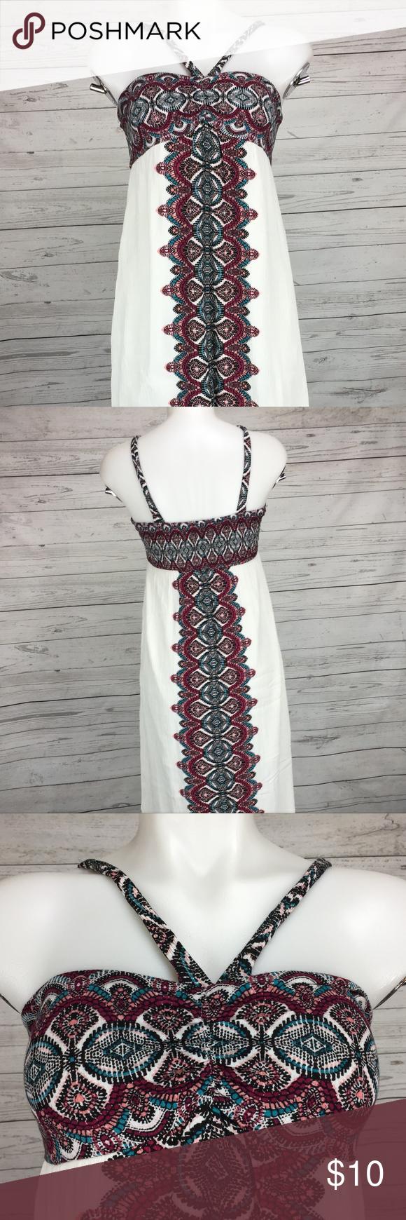 70e3985a6c6 Xhilaration Dress M Maxi Boho Empire Waist Aztec Xhilaration Womens Dress  Maxi Boho Empire Waist Aztec Sleeveless Summer Size  Medium Color   Multi-Color ...