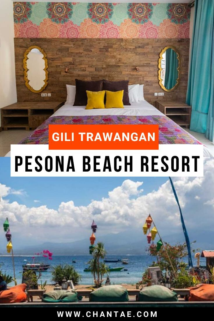 Are you planning a trip to Gili Trawangan, Indonesia? The Pesona Beach Resort is the best place to stay while you are on your travel adventure. This si accomodation with bohemian decor, seaside location, delicious Indian restaurant, lounge area, pool, spa, eco-friendly ethos, and onsite dive center. #gilitrawanganhotel #travelaccomodation #gilitrawangan #indonesiaaccomodation #beachresort