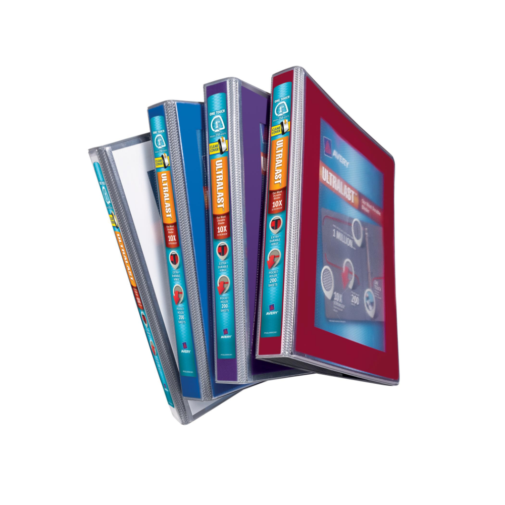 Ultralast(TM) Heavy Duty View Binders With One Touch Slant