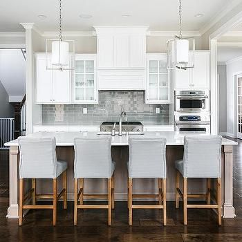 Taupe Kitchen Island With Dove Gray Counter Stools  Kitchens Amazing Counter Stools For Kitchen Inspiration Design