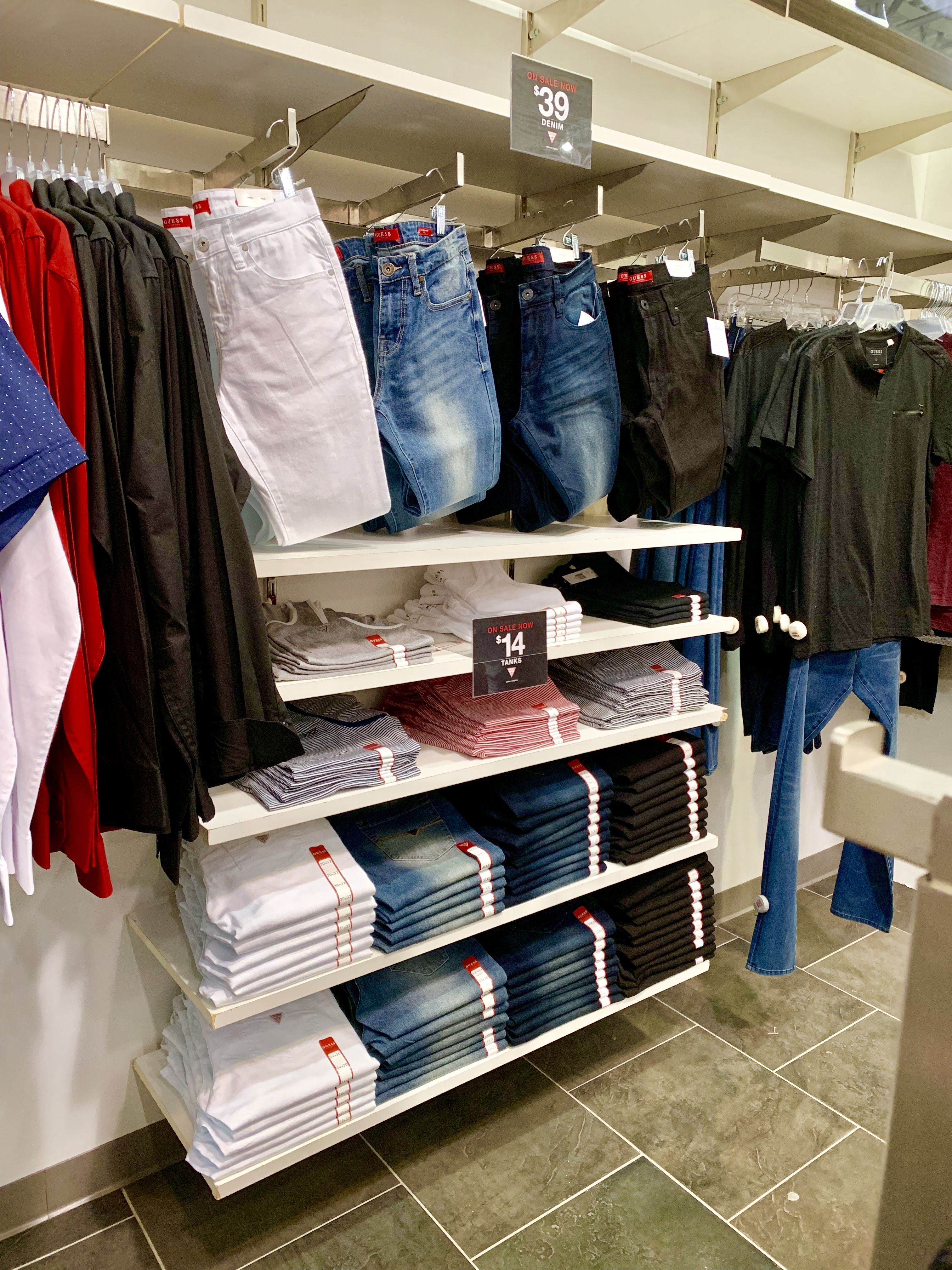 price reduced newest collection huge discount visualmerchandising #menswear #denim #linear #guess ...