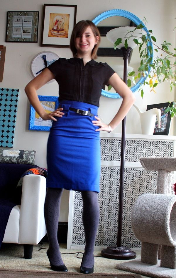 like the idea of this high waisted pencil skirt
