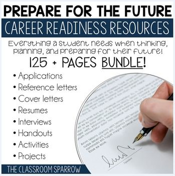 Career Exploration Activities BUNDLE (resume, cover letter, job - pictures of cover letters for resumes