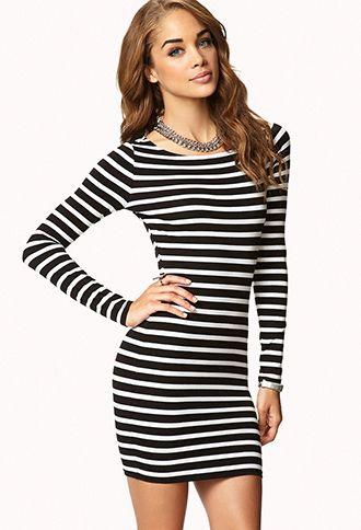 Breton Stripe Dress | FOREVER 21 - 2058421661