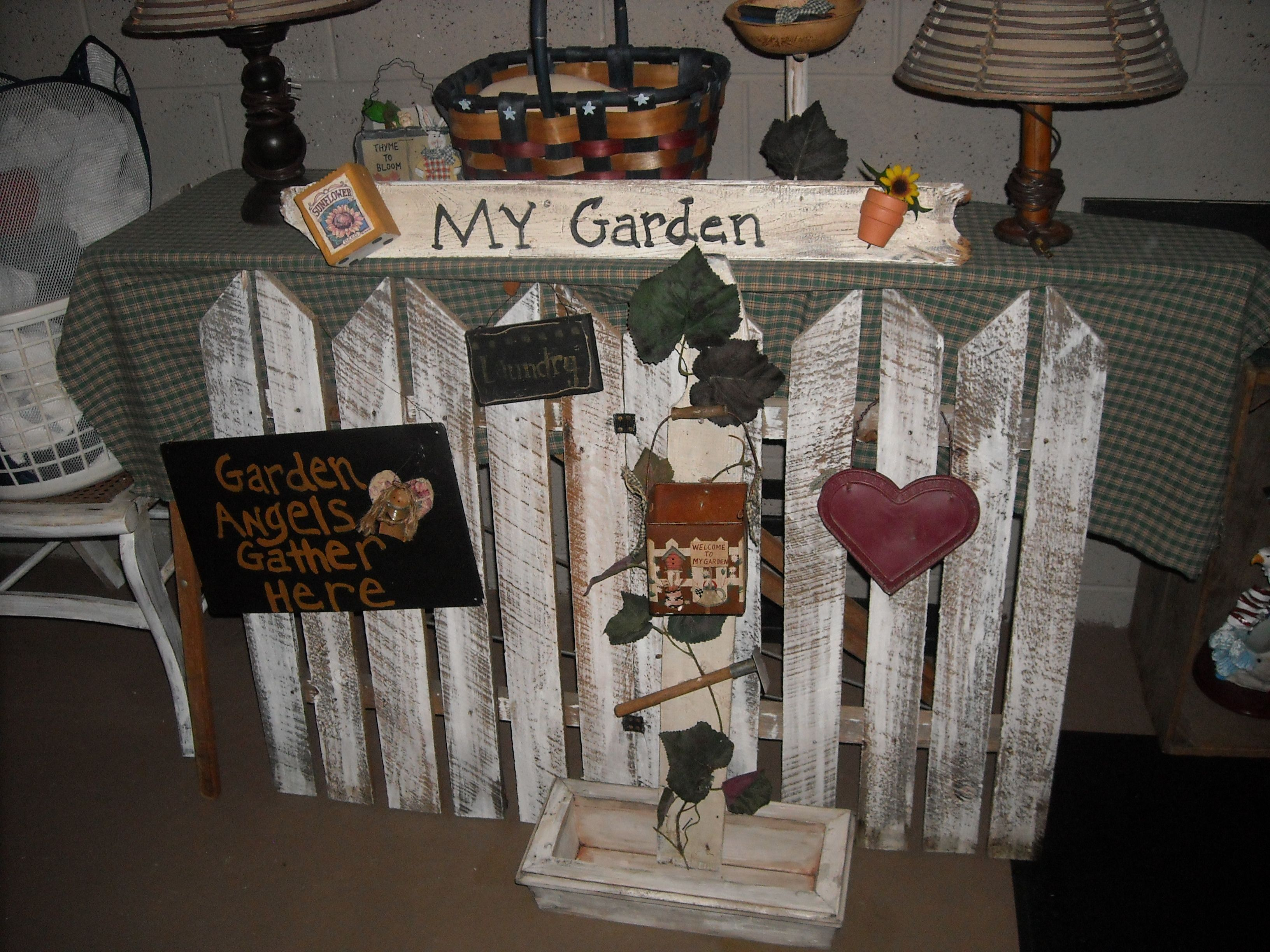 Handmade Primitive Garden Decor