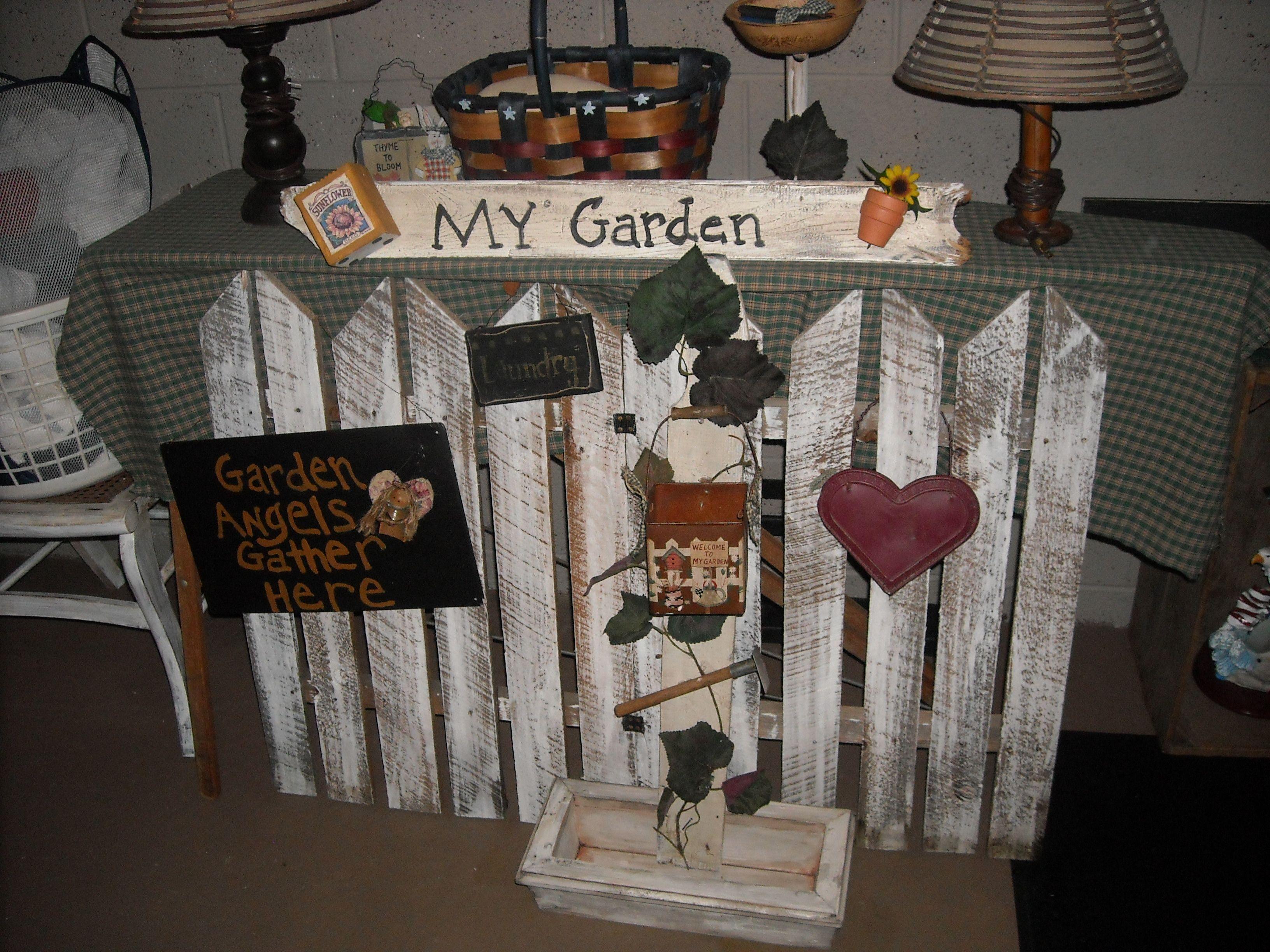 Handmade Primitive Garden Decor