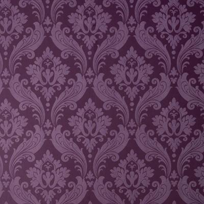Graham Brown Vintage Flock Purple Removable Wallpaper 30 382 The Home Depot Damask Wallpaper Purple Wallpaper Flock Wallpaper