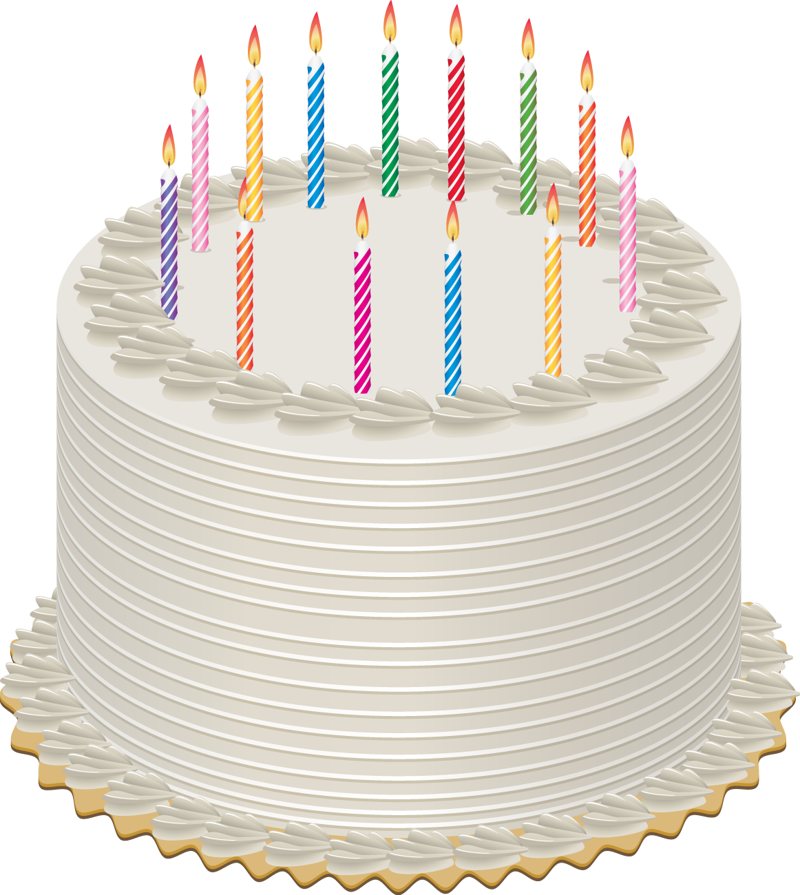 Birthday Cake Lots Candles Stock Illustrations 91