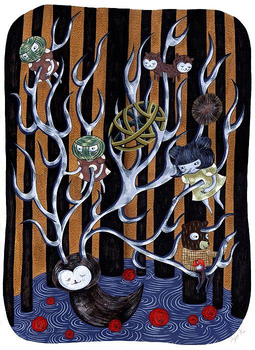 """Paintings from """"24th season"""" by Aya Kakeda"""