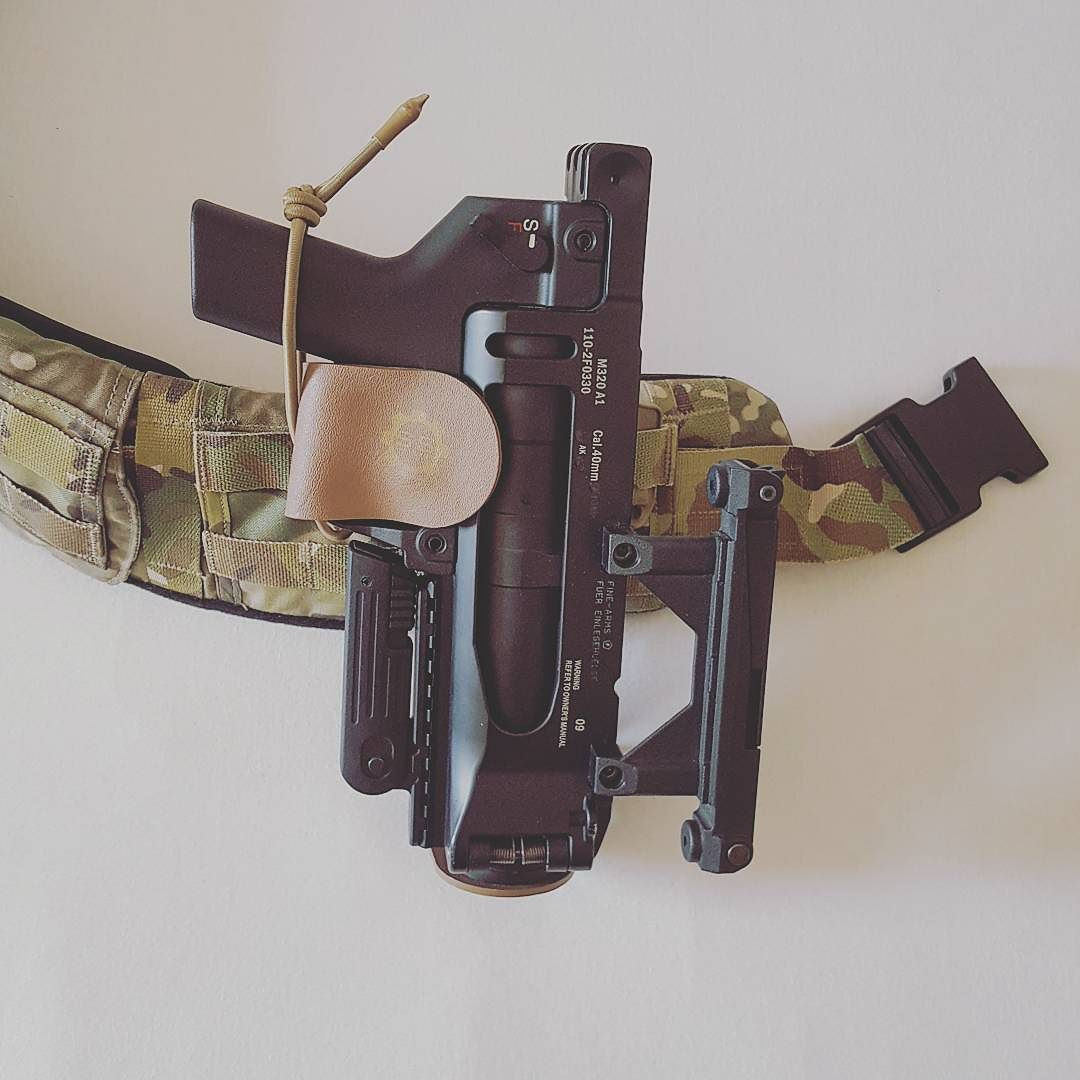 S&S Precision GLH And Iron Airsoft M320A1 On A Crye