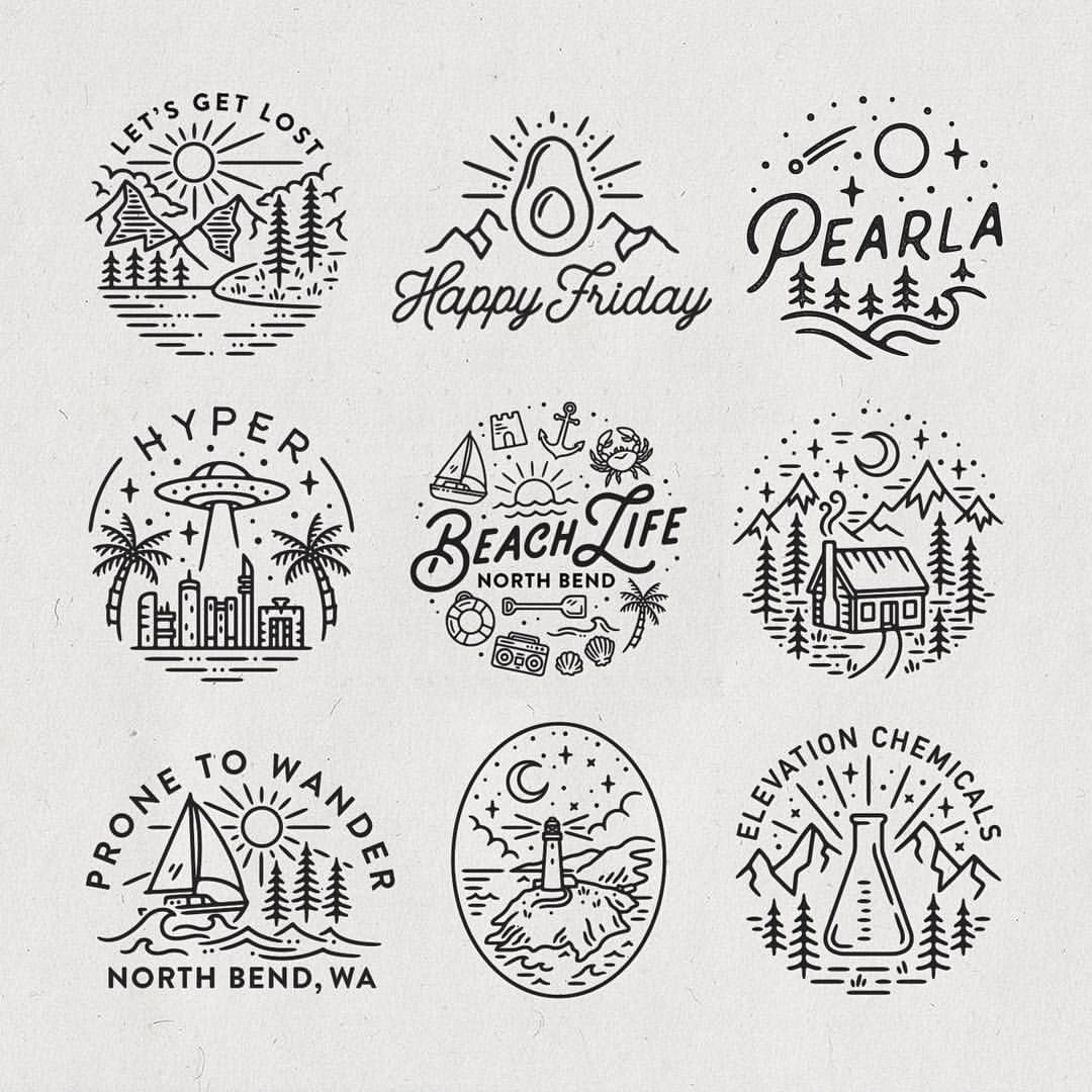 Worked On A Lot Of Circular Logo And Illustration Projects