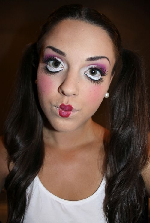 halloween look porcelain doll makeup beauty