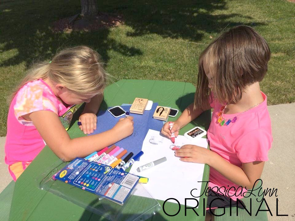 Do you have art that your son or daughter created? Annabelle & Morgan drew up these adorable pieces of art that we turned into a stamp!! They are just tooo cute using their stamps and creating extra art!! This could be great for making his birthday cards, holiday cards, or anything you can think of. http://www.jessicalynnoriginal.com #CustomStamp #RubberStamp #ChildArt #ChildsArt #JessicaLynnOriginal #JLMould #JLOStamps #JessicaLynnOriginal #Handmade #Card