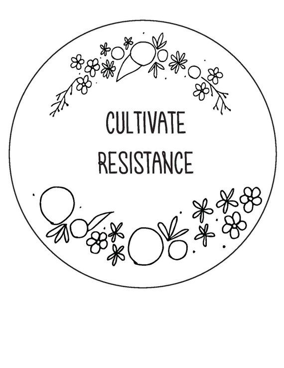 Cultivate Resistance // beginner hand embroidery pattern