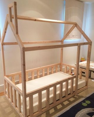 Etsy – TheWyleeFox Montessori House Bed (montessori bed, house bed frame, toddler bed, twin bed, house bed, montessori bed) from Etsy (US) | parenting.com Shop