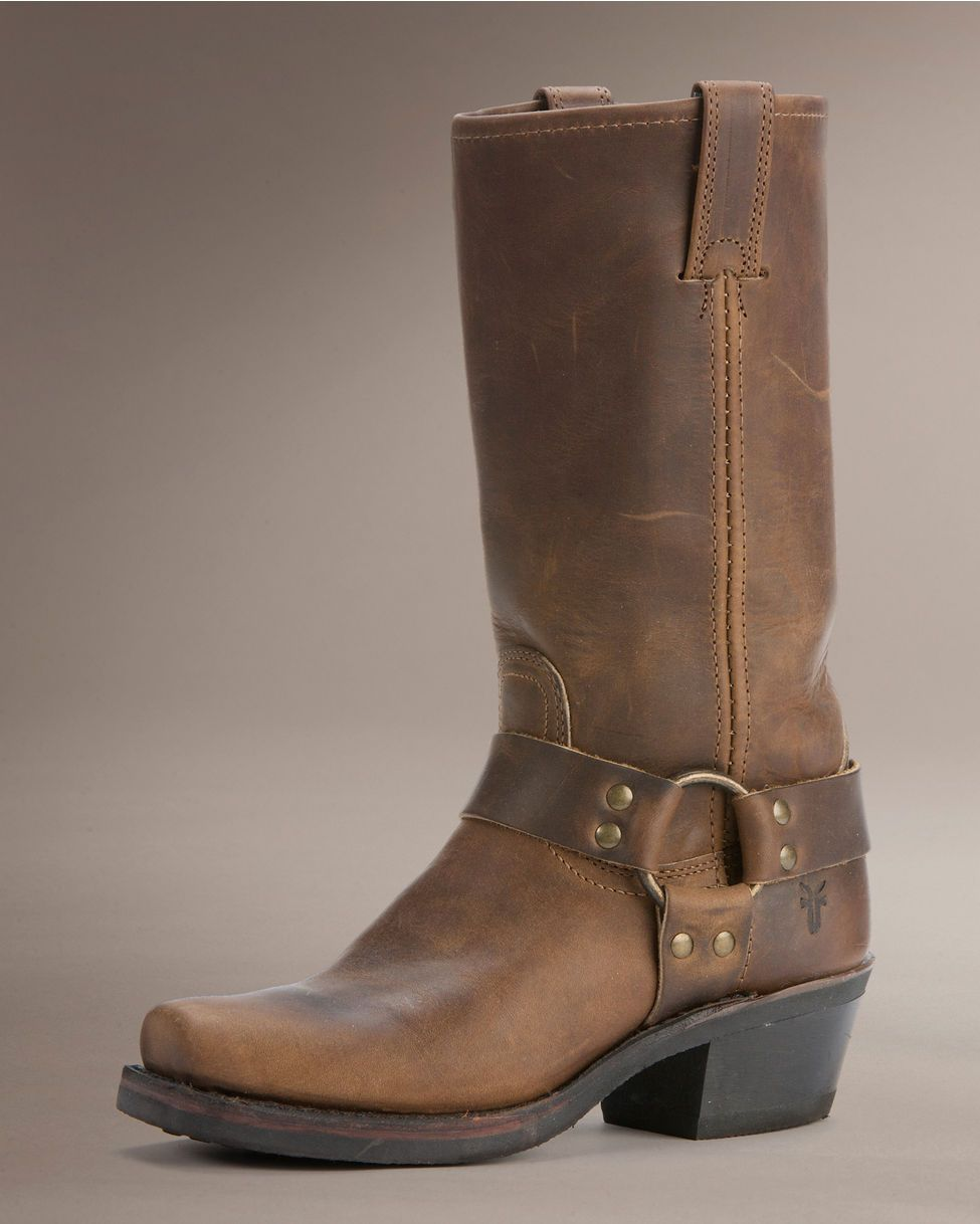 Frye Womens Tan Boots Harness 12R Horse