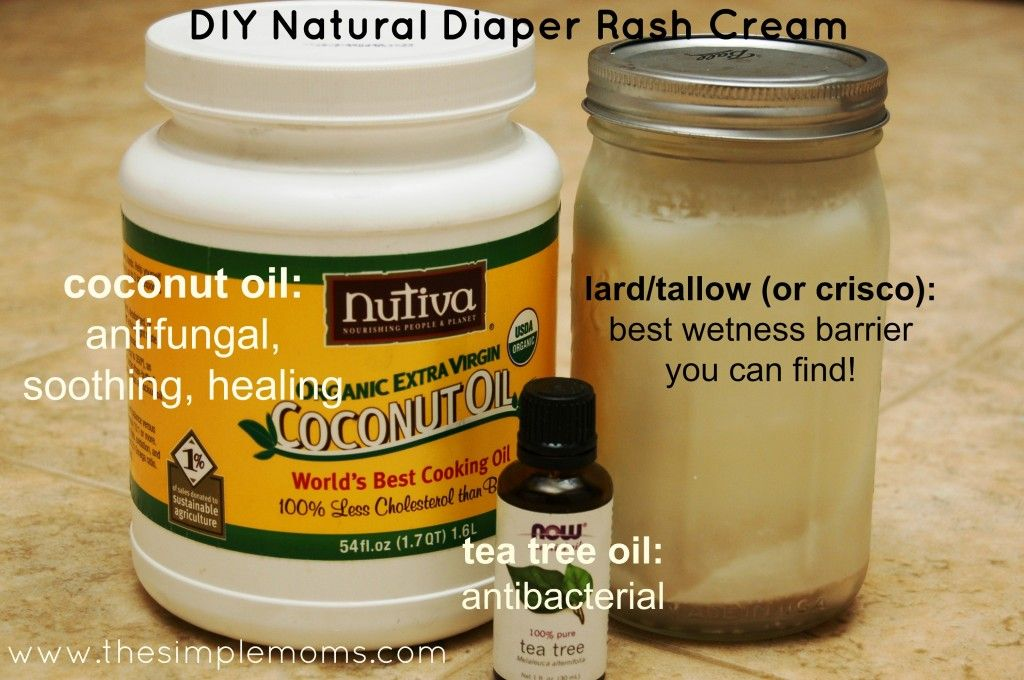 All natural diaper rash cream using lardtallow