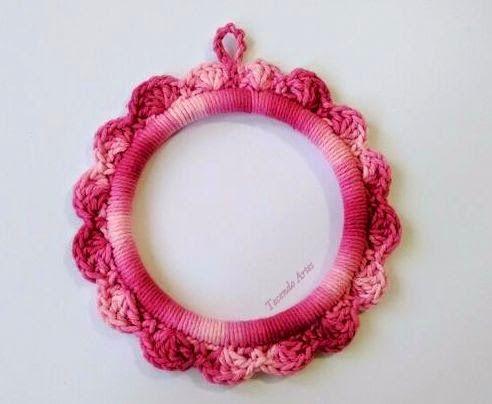 Imagen de crochet, handmade, and moldura