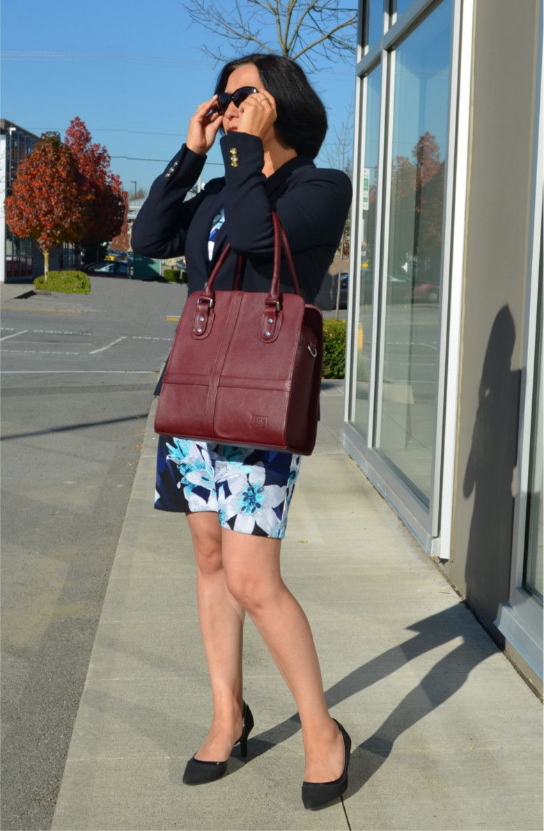 New Valencia Leather Handbag In A Beautiful Red Wine It Will Make Your Work Outfit