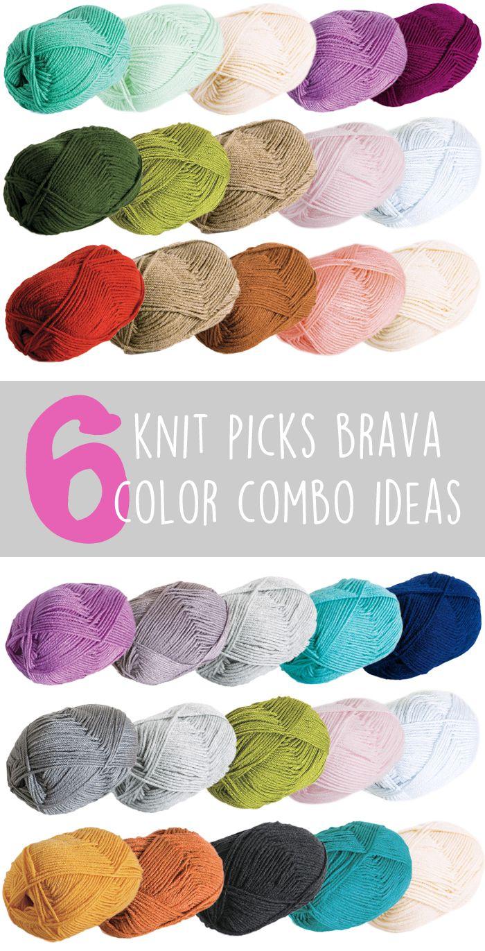 6 Knit Picks Brava Color Combo Ideas Knit Picks Knit Picks Yarn Knitting