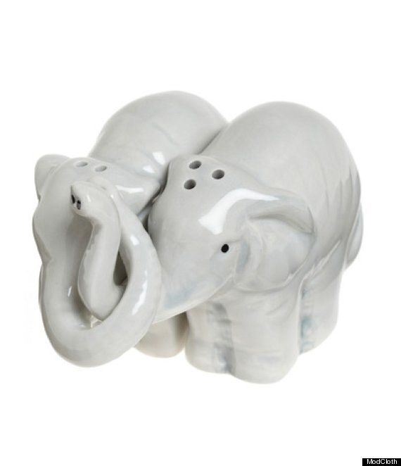 These elephants shakers:   Community Post: 20 Adorable Salt And Pepper Shakers That'll Spice Up Your Kitchen