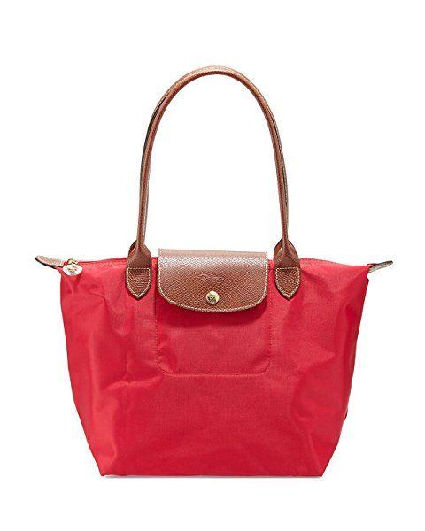 Longchamp Le Pliage Medium Tote Shoulder Bag (Red Garance ... 8ea1a12bbe6d0