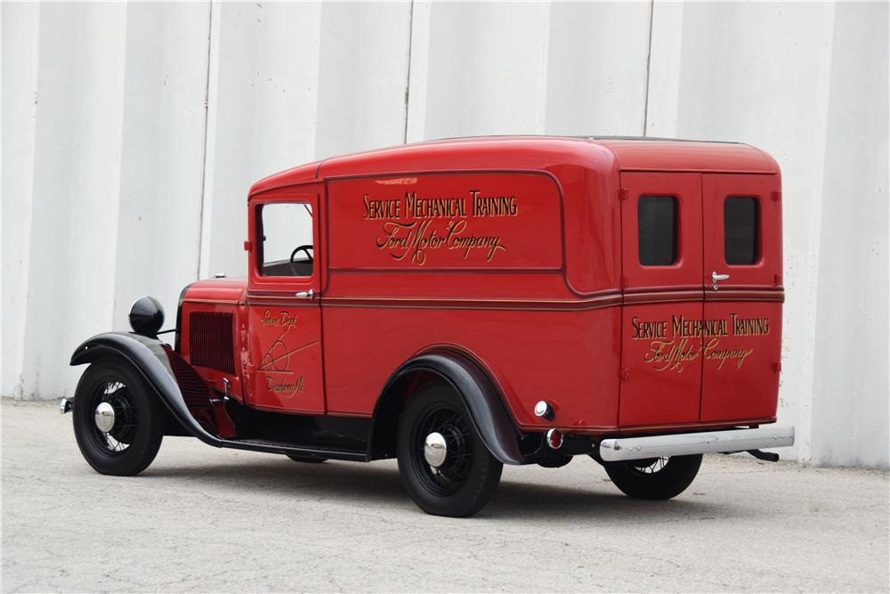 201310 Rear 3 4 Web Jpg 1000 667 Panel Truck Ford Barrett Jackson
