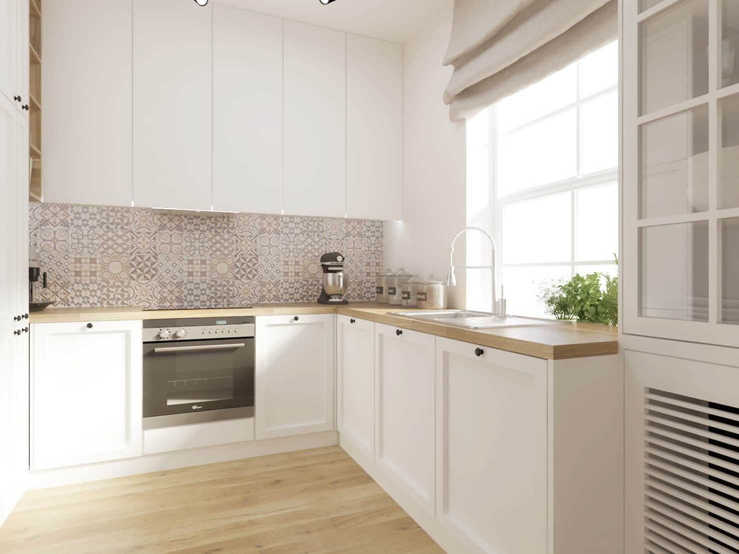 Biala Kuchnia Z Drewnianym Blatem So Interiors Architektura Wnetrz Rustykalna Kuchnia Drewno Bialy Homify Kitchen Design Small Kitchen Design Kitchen