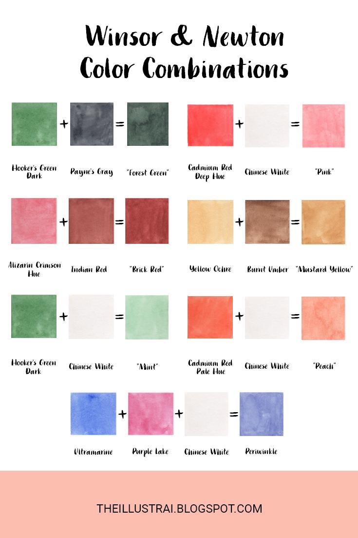 My Current Favorite Paint Color Combinations | Watercolor ...