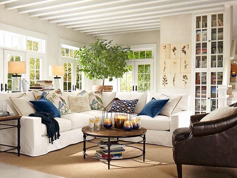pottery barn living room gallery storage box decorating ideas decor