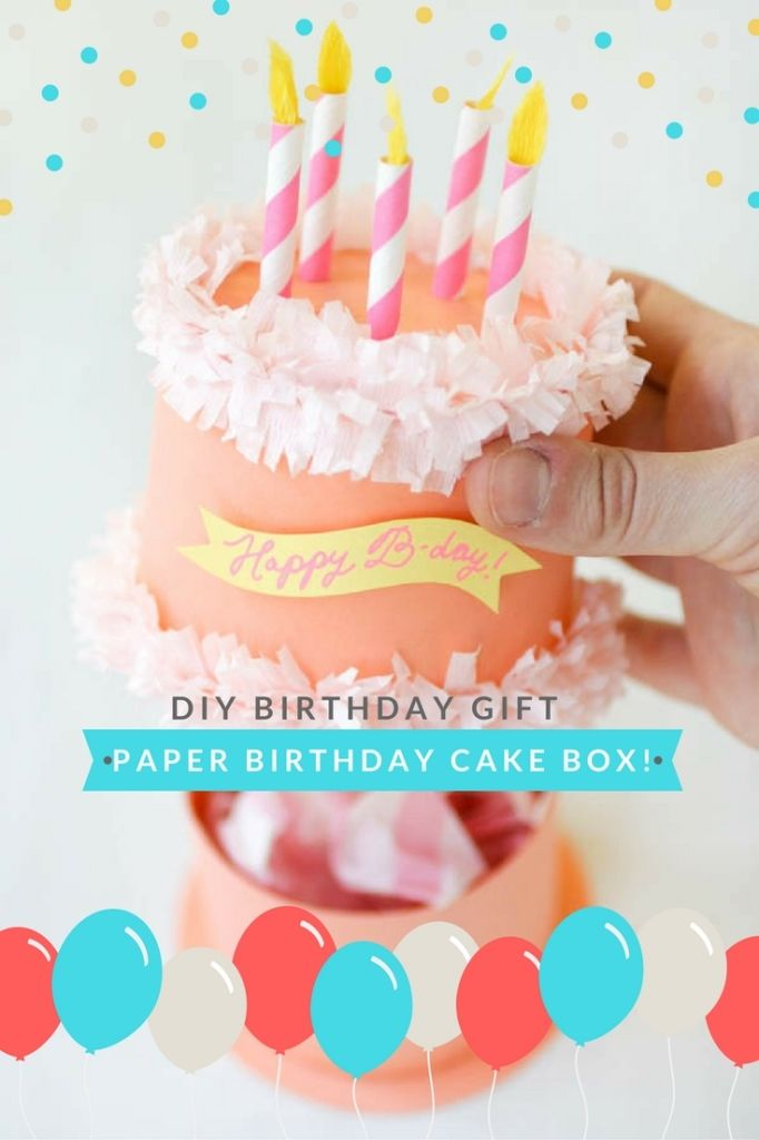 DIY Birthday Cake Box HOW TO MAKE BOWS Pinterest DIY Birthday