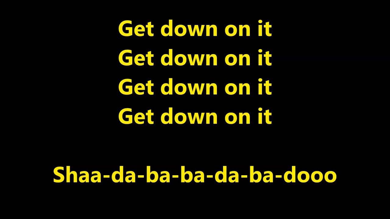 Kool The Gang Get Down On It Lyrics Song Book Lyrics R B