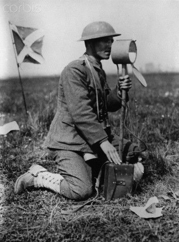 Field Signalling by Heliograph, World War I - HU037144 - Rights Managed - Stock Photo - Corbis