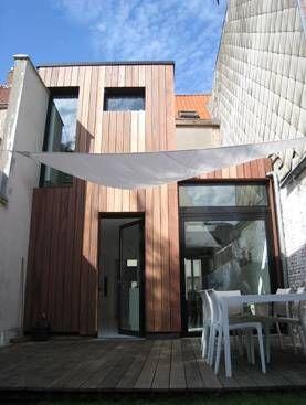 Petite maison de ville rear extension berchem belgium architecte rozemarijn bormans - Petite maison architecte ...