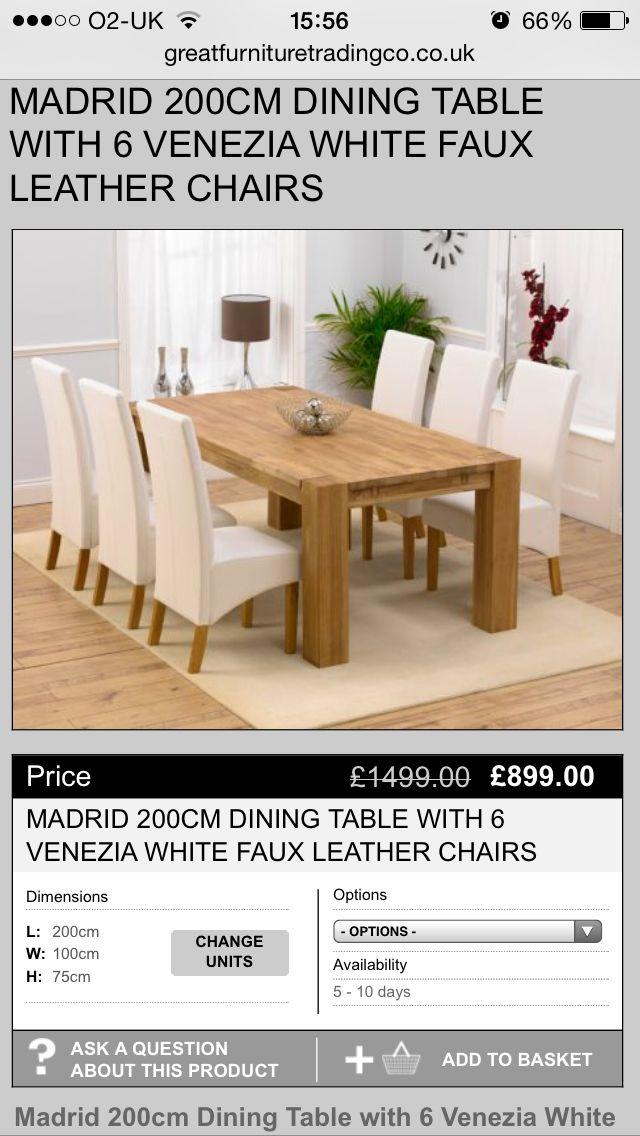 Prime Solid Oak And White Leather Dining Table Roadhouse Creativecarmelina Interior Chair Design Creativecarmelinacom