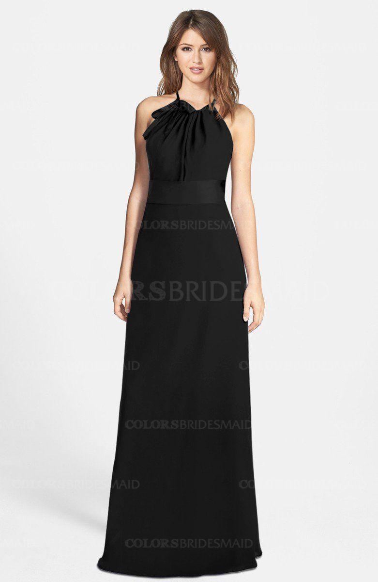 Colsbm leah black bridesmaid dresses wedding pinterest black