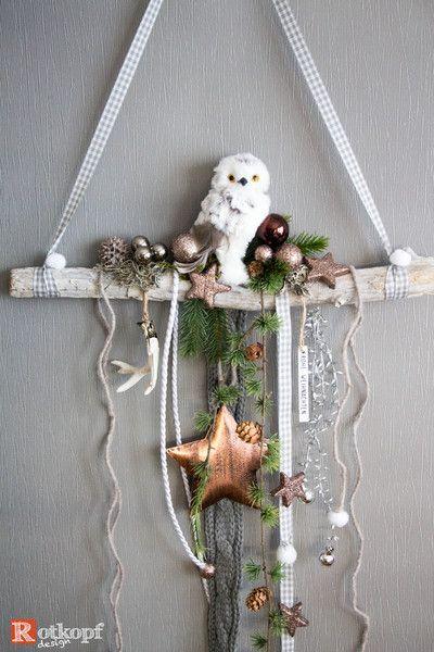 Adventskranz - Türschmuck Weihnachten 1 - ein Designerstück von Rotkopf-design bei DaWanda #trucsdenoël