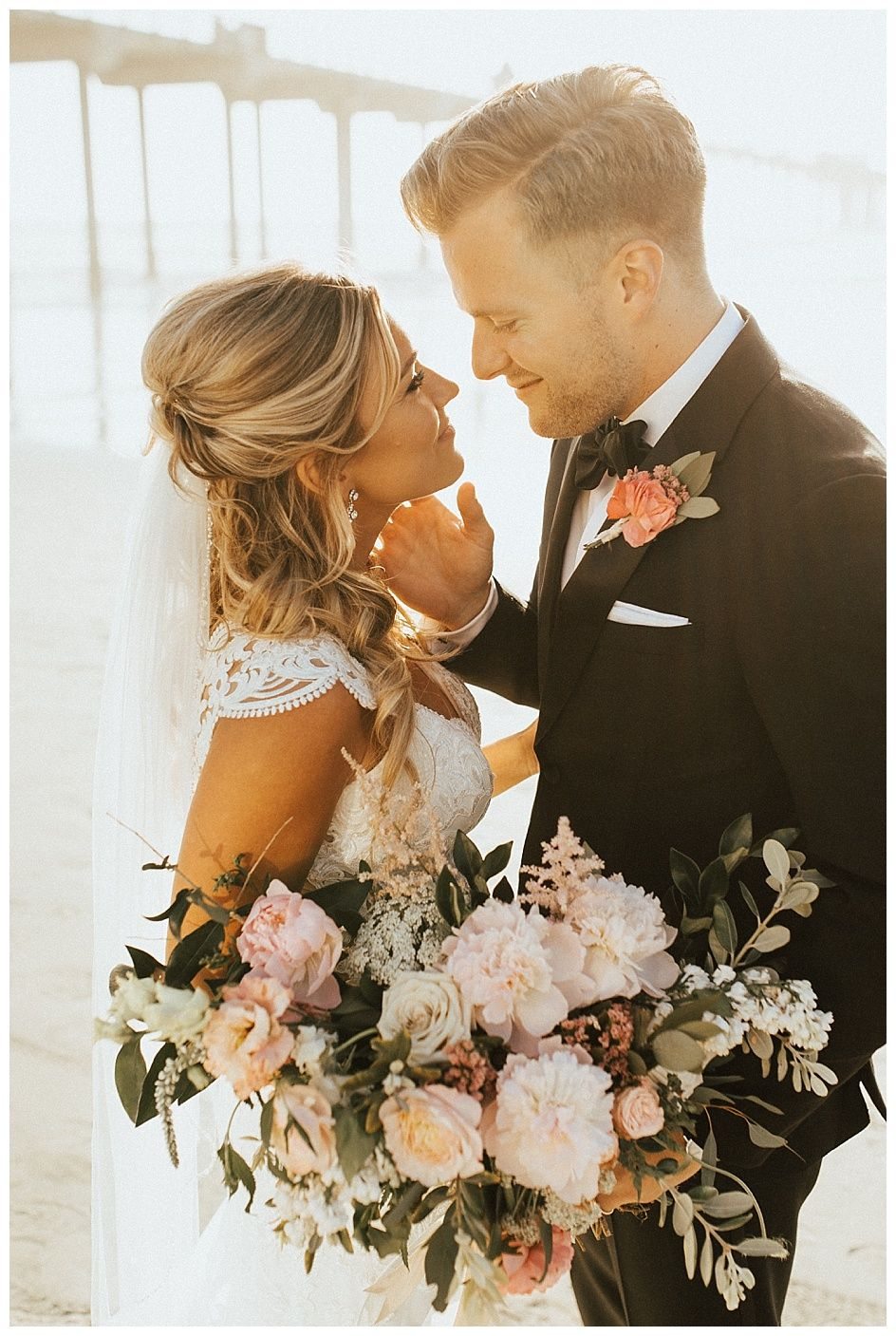 san diego beach dream wedding | veil of grace #beachwedding