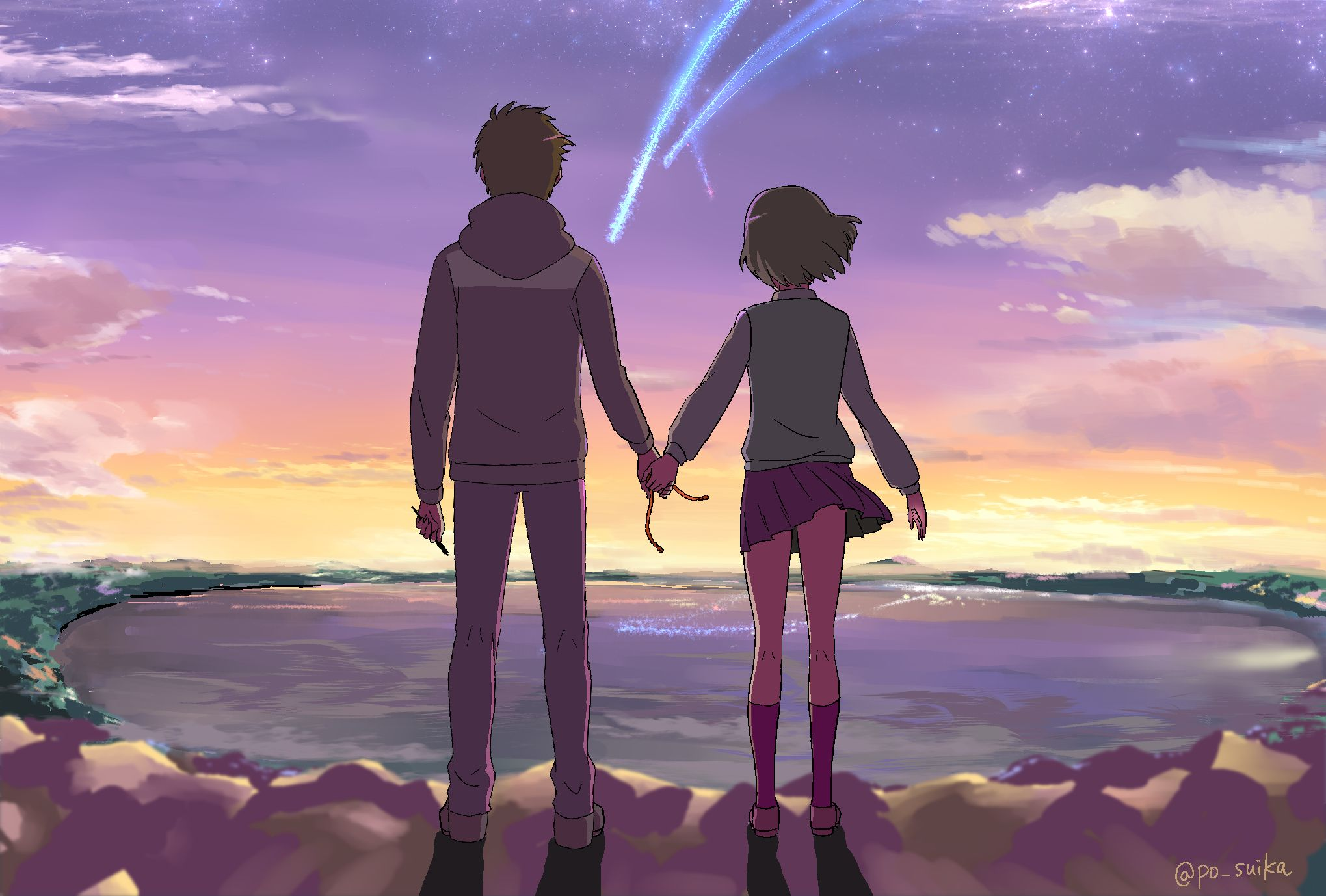 """Movie Review """"Your Name."""" (2016) Your name anime, Film"""